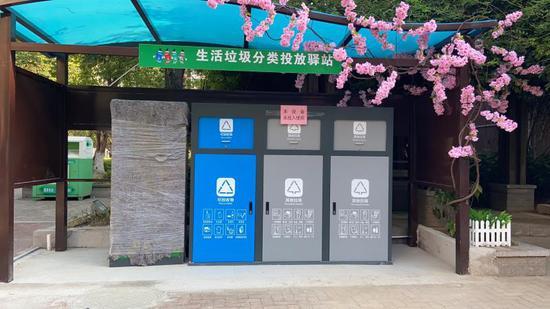 生活垃圾分类投放驿站 龙泉街道提供