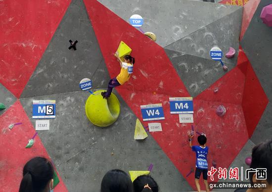 2020年广西青少年攀岩锦标赛在广西马山县开赛