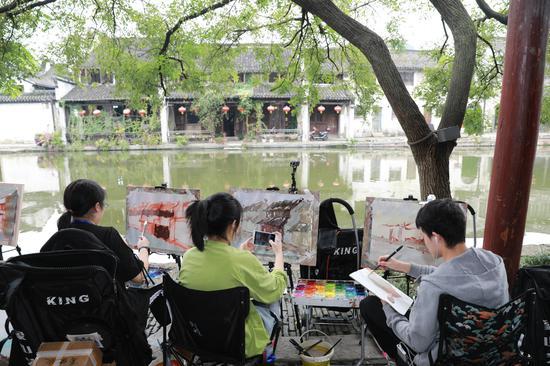 """""""水晶晶南浔""""催热""""写生经济"""" 江南水乡"""