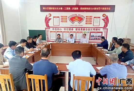 广西审计厅调研组到武宣县检查指导脱贫攻坚工作