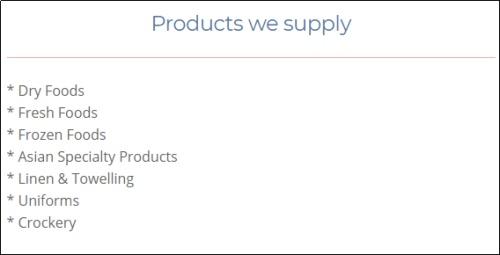 欧克斯科公司网站上对于公司产品的介绍