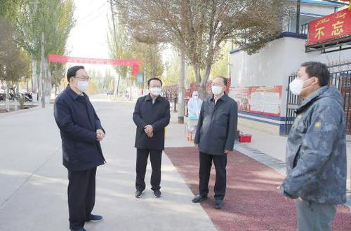 ?陈全国在喀什地区疏附县调研疫情防控和为民服务工作