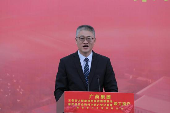 广药集团党委副书记杨军发言
