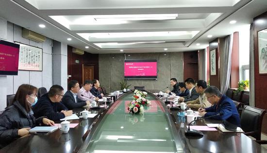 瓯海区市场监管局与温州大学交流知识产权体系建设相关工作。  瓯海区市场监管局供图