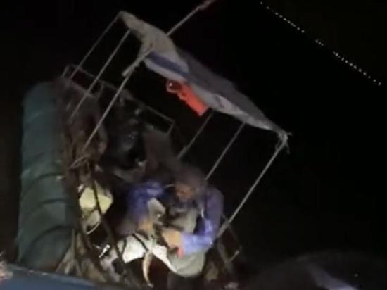 搜寻到失联渔民。嵊泗公安供图