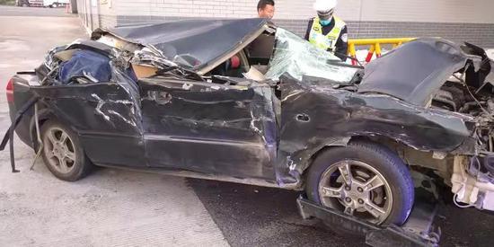 事故车辆  台州高速交警供图