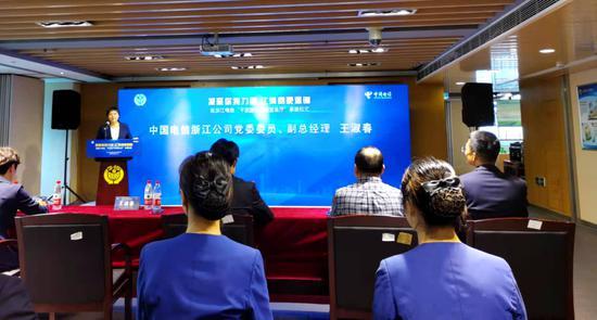 亚星电信亚星集团公司党委委员、副总经理王淑春。胡亦心 摄