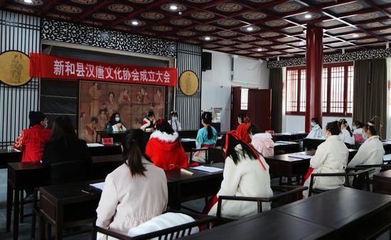 新和县汉唐文化协会成立大会在唐安西都护府文化园举行