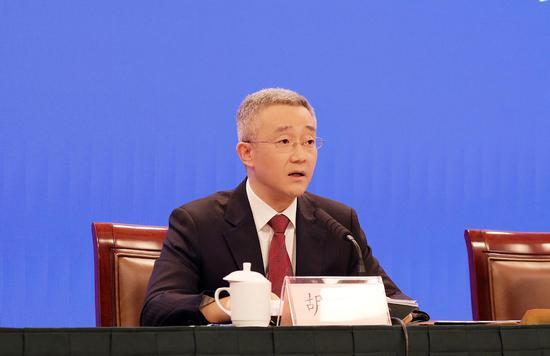 丽水市委书记胡海峰在发言。   戴昕律(通讯员)   摄