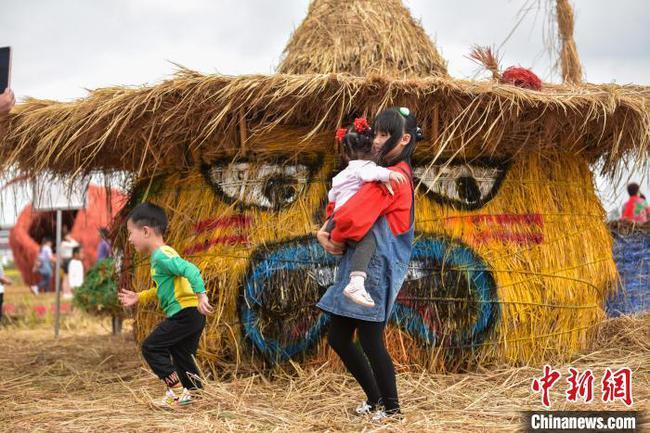 广西打造稻田艺术雕塑庆祝仫佬族丰收