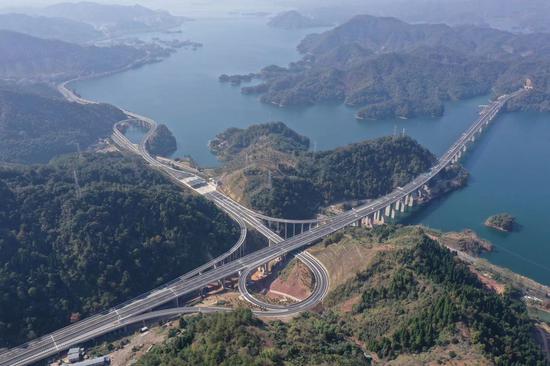 千黄高速。杭州交通局 供图