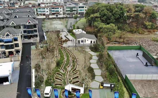 萧山义桥镇潘山净水公园。 杭州建委 供图