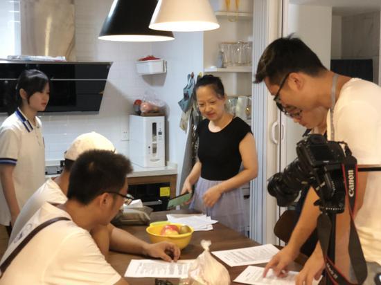 《幸福 我的家》电视栏目拍摄现场。 永康市教育局 供图