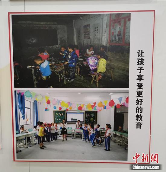 易地搬迁群众今昔生活对比。中新网记者 宋宇晟 摄