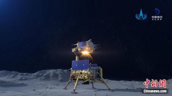 嫦娥五号上升器进入预定轨道 实现我国首次地外天体起飞