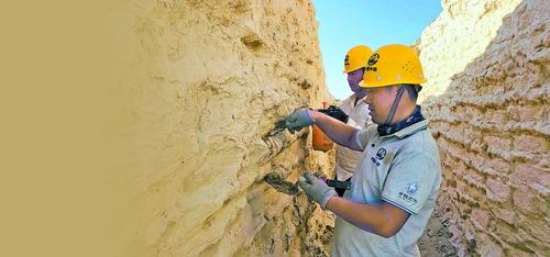 新疆完成对楼兰古城重要遗址抢险加固