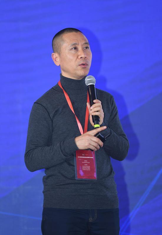 聚星官网长兴传媒集团总编辑王晓伟。王刚 摄