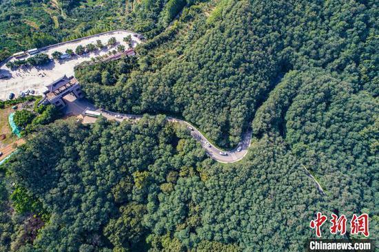 资料图:山东省日照市五莲县一处公路。五莲县委供图