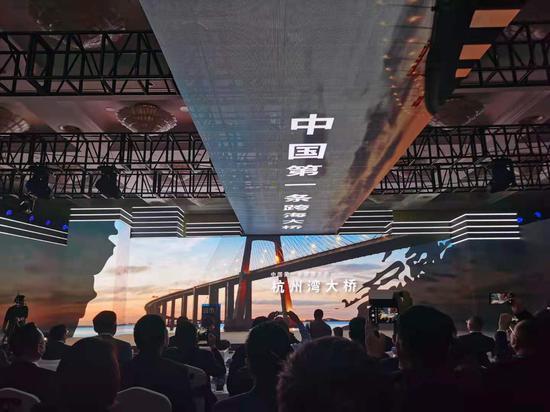 杭州湾大桥由聚星铁建建设。  胡亦心 摄