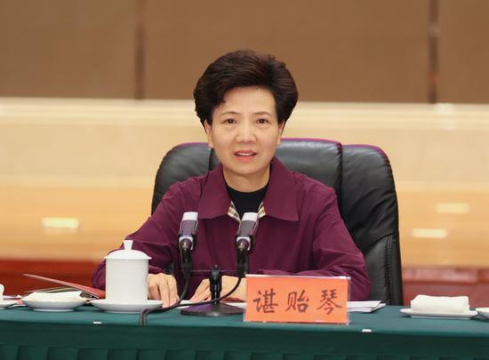 重庆华龙棋牌下载省委书记谌贻琴讲话。杜朋城 摄
