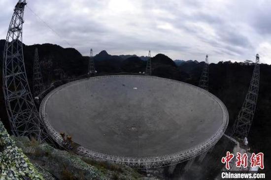 """資料圖:位于貴州平塘的""""中國天眼""""?!O自法 攝"""