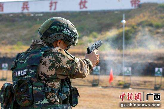 战鼓阵阵硝烟升腾 武警桂林支队掀起练兵热潮