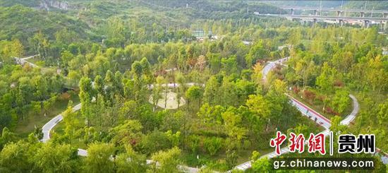 清镇市红枫生态体育公园一角。