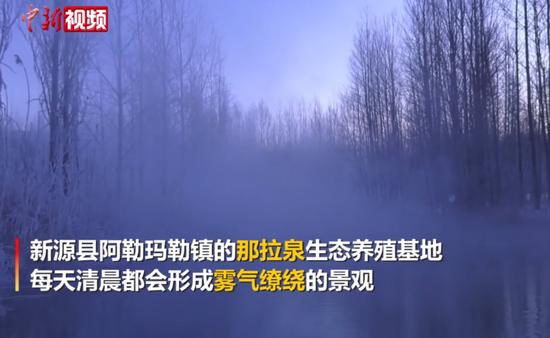 新疆新源:那拉泉冬日清晨宛如仙境