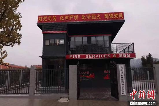图为移动消防救援站大门。毕节市消防救援支队供图
