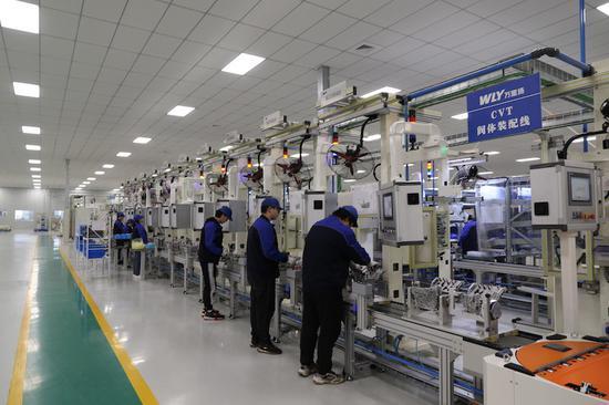 婺城一企业生产车间。  婺城宣传部供图