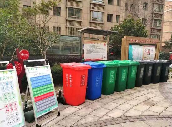 东方花苑一处垃圾集中投放点 温岭供图