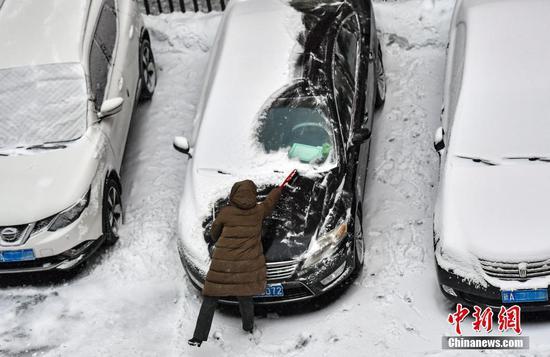 乌鲁木齐迎来2021年首场降雪天气