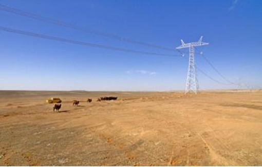 准东-皖南±1100千伏直流输电线路。