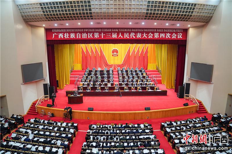 广西十三届人大四次会议举行第二次全体会议