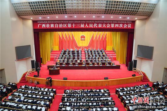 廣西十三屆人大四次會議舉行第二次全體會議
