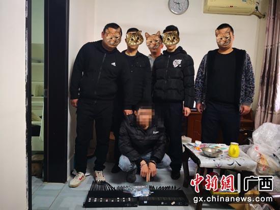 广西移动协助公安机关抓获正在实施电信诈骗的犯罪嫌疑人。广西移动供图