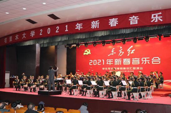 """塔里木大学举办2021年""""东方红""""新春音乐会"""
