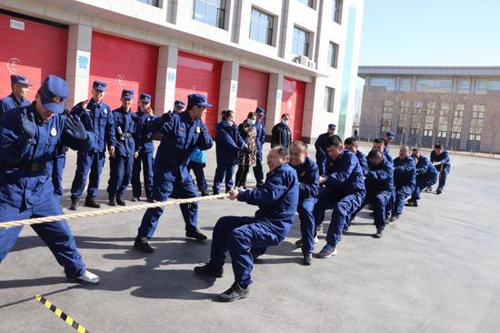 宁夏惠农消防救援大队举办队内趣味运动会