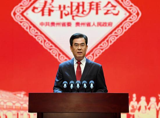 贵州省委副书记、省长李炳军主持。贾智 摄