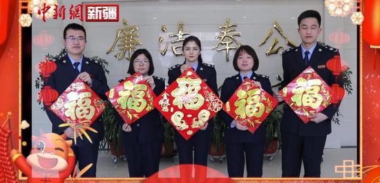 新疆岳普湖县税务局青年干部 积极响应就地过年