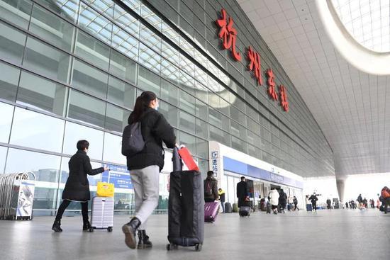 杭州东站。 王刚 摄