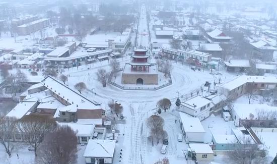 雪中的惠远将军府