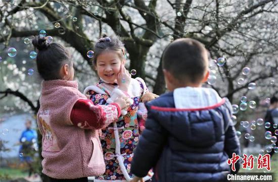杭州:春节假期 西湖西溪景区游人如织