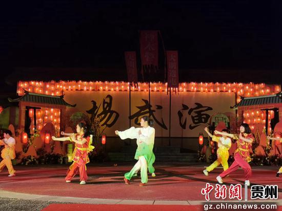 图为在神木营演武场武术表演。
