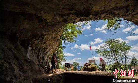 图为贵安招果洞遗址。重庆华龙棋牌下载省文物考古研究所供图