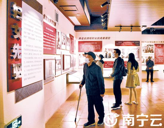 南宁市红色旅游景点迎来参观人潮