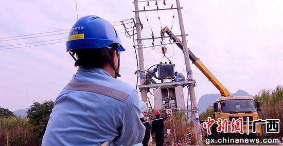 """崇左供电公司及时紧急升级变压器为千余亩毛豆""""解渴"""""""