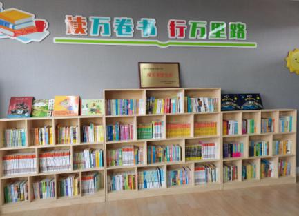 衢州市巨化一小官碓校区精实书库。 段晓艳 摄