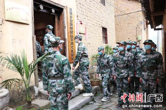 广西平乐县:预定新兵学党史 奔赴军营担使命