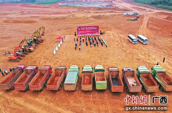 """横县14个重大项目集中开工 项目建设赢得""""开门红"""""""